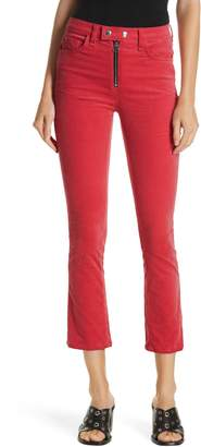 Rag & Bone High Waist Velvet Skinny Pants