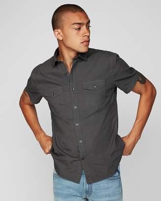 Express Slim Garment Dyed Short Sleeve Shirt