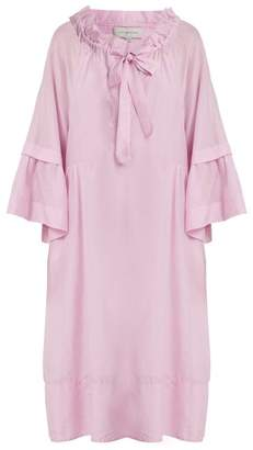Lee Mathews - Minnie Cotton And Silk Blend Dress - Womens - Light Pink