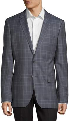 HUGO BOSS Men's Plaid Wool Jacket