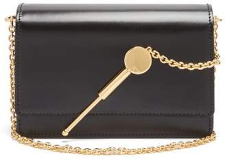 Sophie Hulme Cocktail Micro Stirrer Shiny Saddle Bag - Womens - Black