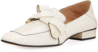 Chloé Quincy Shiny Ballerina Loafer Mule