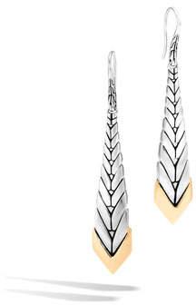 John Hardy Modern Chain 18K Gold & Silver Long Drop Earrings