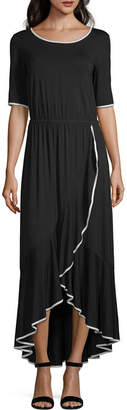 Spense Short Sleeve Maxi Dress