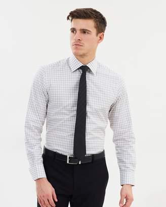 Windowpane Check Tailored Fit Shirt