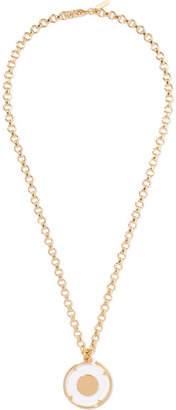 Chloé Terry Gold-tone And Plexiglas Necklace
