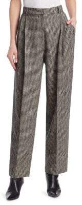 The Row Nica Camel Hair Herringbone Trousers