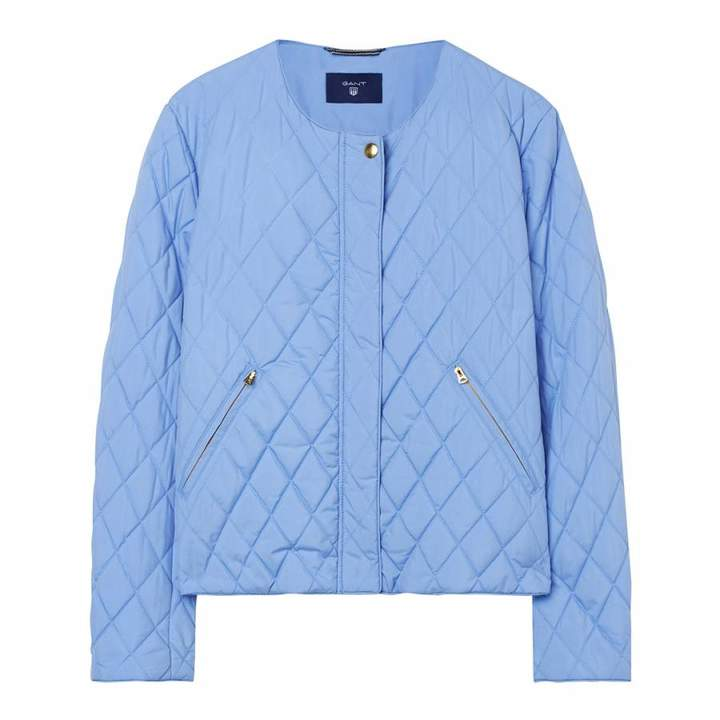 Blue Quilted Jacket