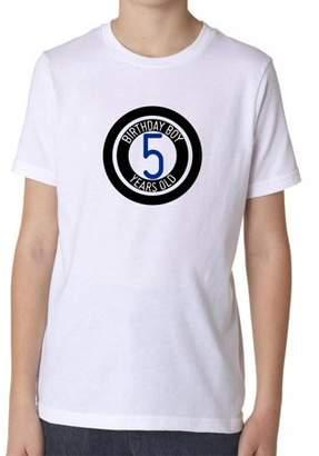 Pool' Hollywood Thread 5th Birthday Boy - Cute Eight Ball Pool Fun Gift Boy's Cotton Youth T-Shirt