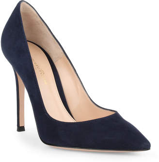 Gianvito Rossi Gianvito navy suede pump