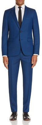 HUGO Box Micro Check Semi Solid Slim Fit Suit $895 thestylecure.com