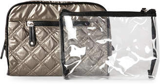 Sondra Roberts Pewter Quilted Cosmetic Bag