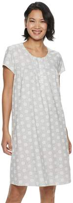 Croft & Barrow Petite Printed Nightgown