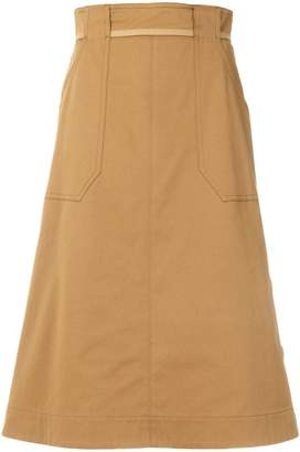 Mantu side button skirt