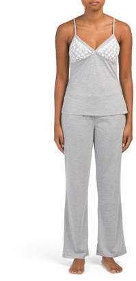 Lace Tank Pajama Set