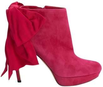 Alexander McQueen Pink Suede Boots