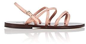 K. Jacques Women's Datura Metallic Suede Sandals-Peach