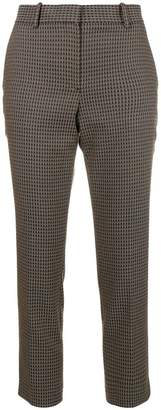 Theory printed slim-fit trousers