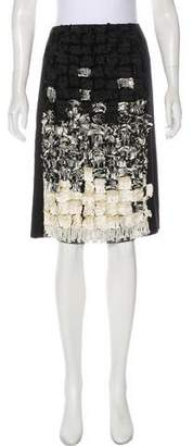 Oscar de la Renta Vintage Cashmere Skirt