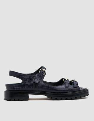 Rachel Comey Adams Croc-Embossed Sandal
