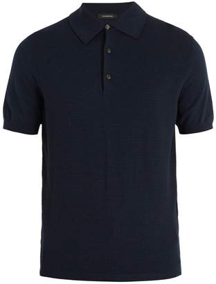 Ermenegildo Zegna Contrast-panel wool and cotton-blend polo shirt