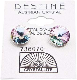 Crystallite Destine Violet Rivoli Earrings 11mm