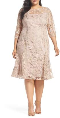 Alex Evenings Embroidered Fit & Flare Dress