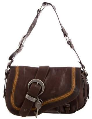 Christian Dior Leather Gaucho Bag Brown Leather Gaucho Bag