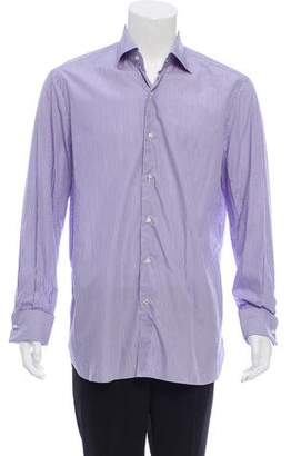 Isaia French Cuff Button-Up Shirt