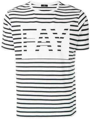 Fay striped logo print T-shirt