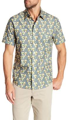 Kennington Floral Wave Short Sleeve Slim Fit Shirt