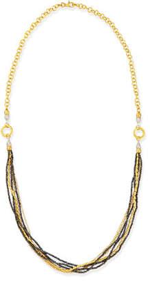 Gurhan Sultan Collection Multi-Strand Gold & Black Diamond Necklace