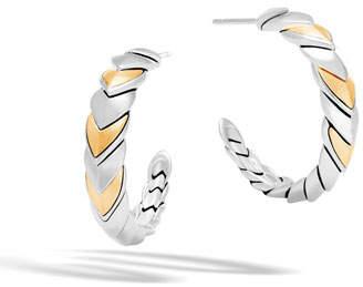 John Hardy Legends Naga 18K Gold & Silver Small Hoop Earrings