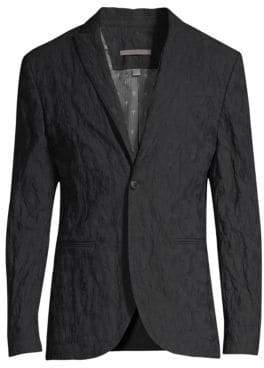 John Varvatos Textured Button-Front Jacket