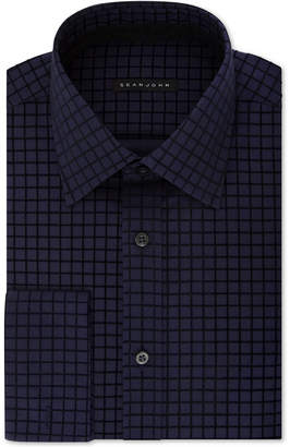 Sean John Men Classic/Regular-Fit Check French Cuff Dress Shirt