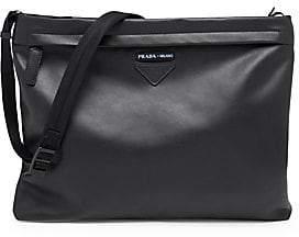 Prada Men's Grace Luxe Leather Shoulder Bag