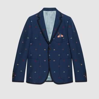 Gucci Monaco bees cotton natté jacket