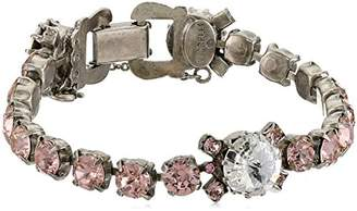 Sorrelli Crystal Rose Assorted Round Crystal Line Bracelet