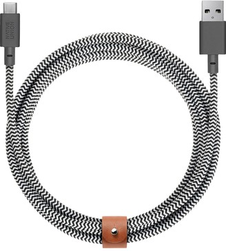 Native Union BELT extra long USB-A to USB-C charging cable - Zebra