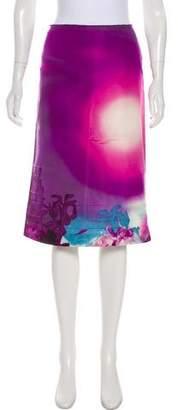 Prada Silk Abstract Print Skirt