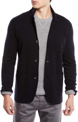 Neiman Marcus Men's Lightweight Merino Sweater Jacket