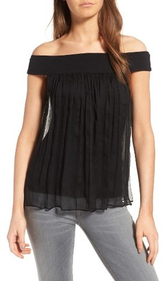 Women's Bailey 44 Tizhit Silk Off The Shoulder Top $168 thestylecure.com