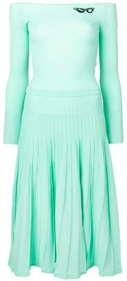 Pinko pleated ribbed dress
