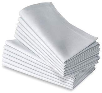 +Hotel by K-bros&Co Cotton Dinner Napkins White - 12 Pack (20 inches x20inches) Soft & Comfortable - Expertly Tailored Edges - Durable Hotel Quality - Ideal for Events & Regular Home Use