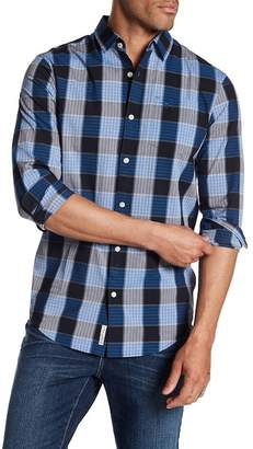 Original Penguin Long Sleeve P55 Jaspe Plaid Heritage Slim Fit Shirt