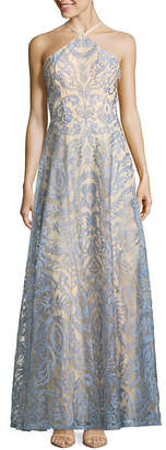 Speechless Sleeveless Embroidered Jacquard Maxi Dress-Juniors