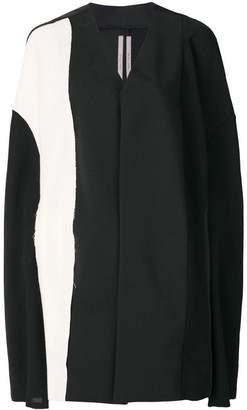 Rick Owens colour block cape coat