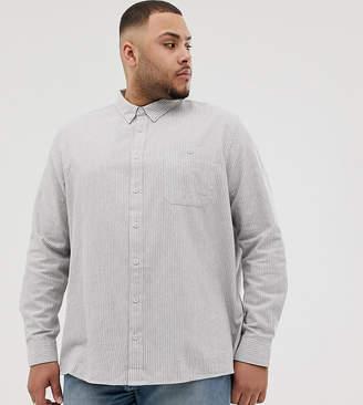 Burton Menswear Big & Tall regular fit shirt in grey stripe