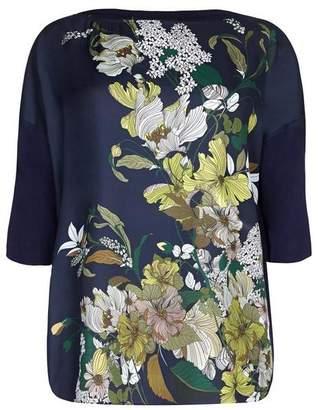 Evans Live Unlimited Floral Placement Print T-Shirt