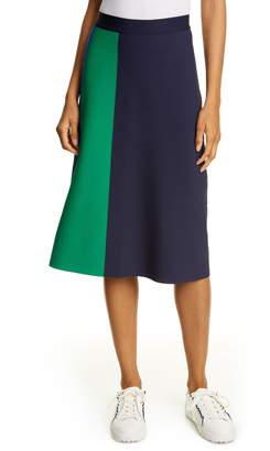 Tory Sport Colorblock Tech Knit Skirt
